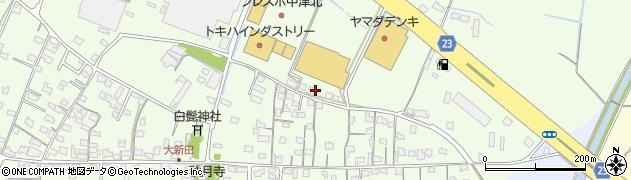大分県中津市大新田596周辺の地図