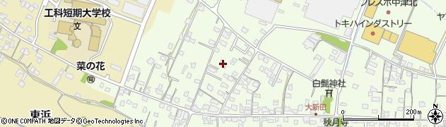 大分県中津市大新田827周辺の地図