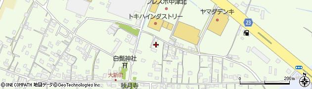 大分県中津市大新田722周辺の地図