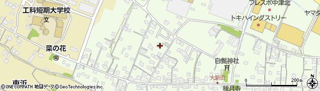 大分県中津市大新田812周辺の地図