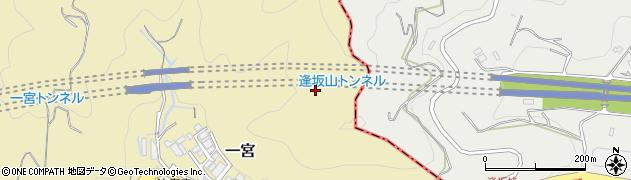 逢坂山トンネル周辺の地図