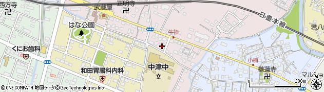 大分県中津市牛神435周辺の地図