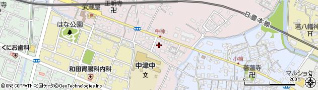 大分県中津市牛神437周辺の地図