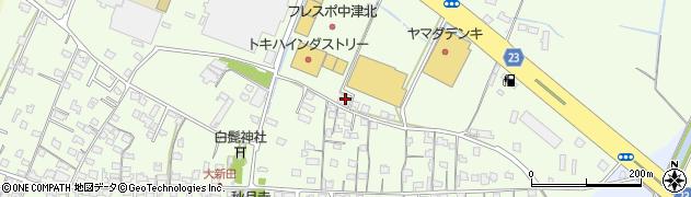 大分県中津市大新田595周辺の地図
