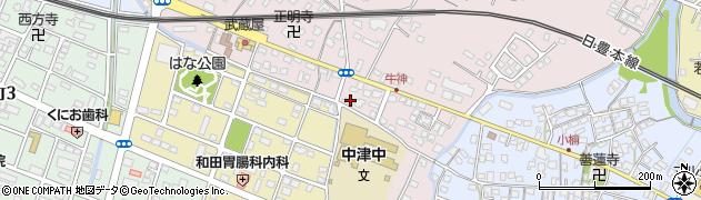 大分県中津市牛神432周辺の地図