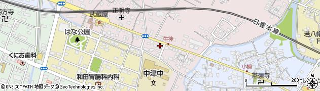 大分県中津市牛神227周辺の地図