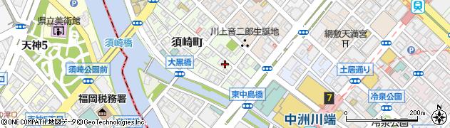 福岡県福岡市博多区須崎町周辺の地図