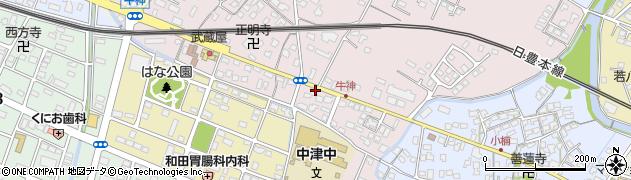 大分県中津市牛神231周辺の地図
