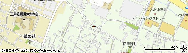 大分県中津市大新田828周辺の地図