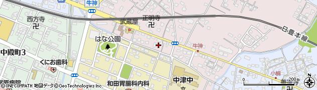 大分県中津市牛神430周辺の地図