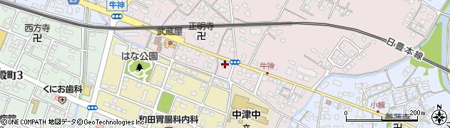 大分県中津市牛神329周辺の地図