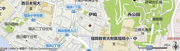 福岡県福岡市中央区伊崎周辺の地図