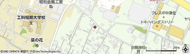 大分県中津市大新田832周辺の地図