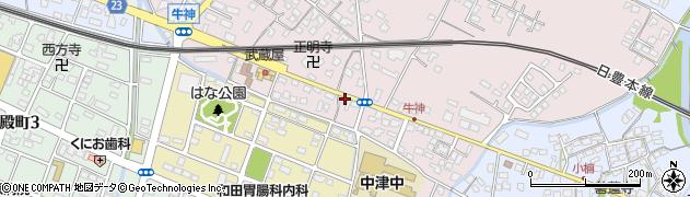 大分県中津市牛神331周辺の地図