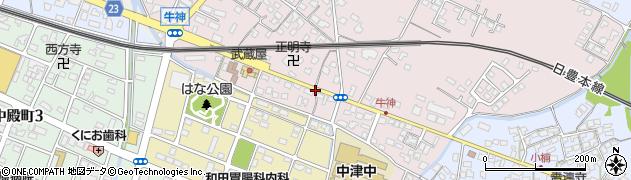 大分県中津市牛神429周辺の地図
