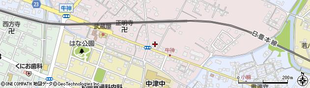 大分県中津市牛神232周辺の地図