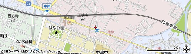 大分県中津市牛神328周辺の地図