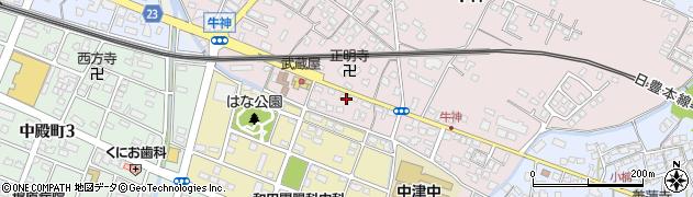 大分県中津市牛神333-2周辺の地図