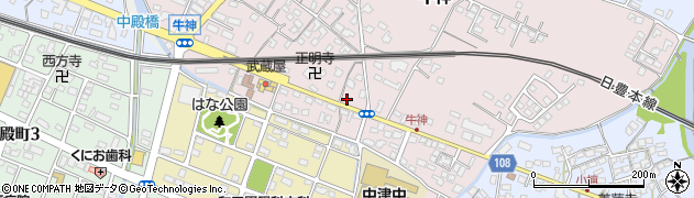 大分県中津市牛神327周辺の地図
