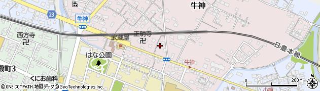 大分県中津市牛神326周辺の地図