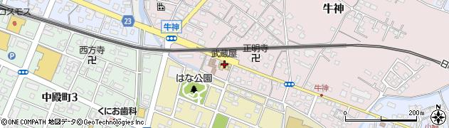 大分県中津市牛神424周辺の地図