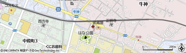 大分県中津市牛神423周辺の地図