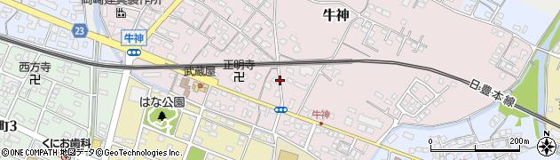 大分県中津市牛神325周辺の地図