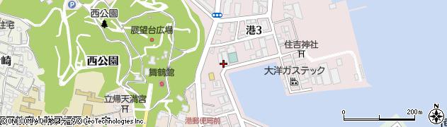 福岡県福岡市中央区港3丁目1周辺の地図