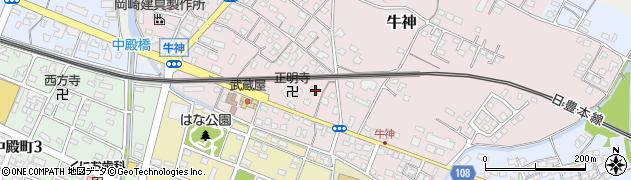 大分県中津市牛神339周辺の地図