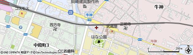 大分県中津市牛神417周辺の地図
