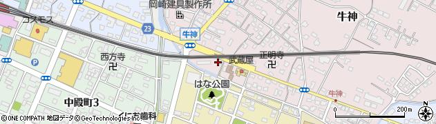大分県中津市牛神419周辺の地図