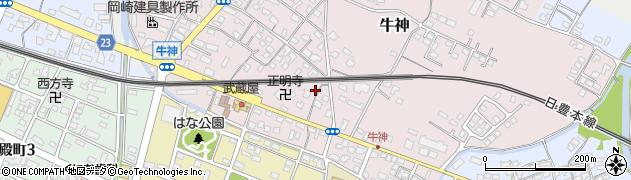 大分県中津市牛神338周辺の地図