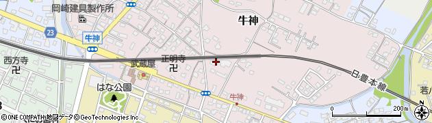 大分県中津市牛神320周辺の地図