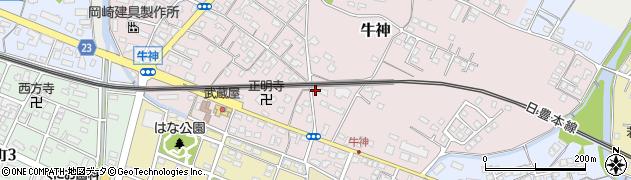 大分県中津市牛神317周辺の地図