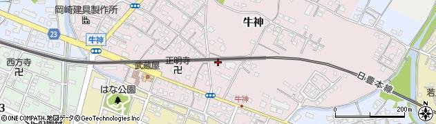 大分県中津市牛神321周辺の地図