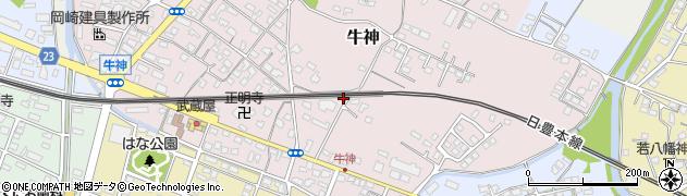 大分県中津市牛神125周辺の地図