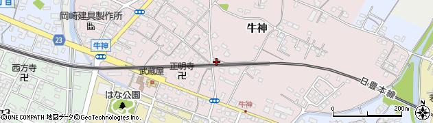 大分県中津市牛神319周辺の地図