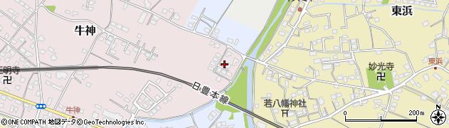 大分県中津市牛神158周辺の地図