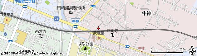 大分県中津市牛神348周辺の地図