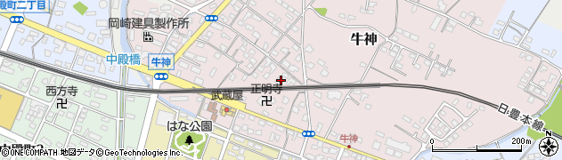 大分県中津市牛神312周辺の地図