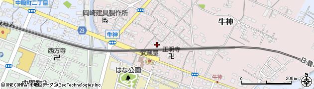 大分県中津市牛神347周辺の地図