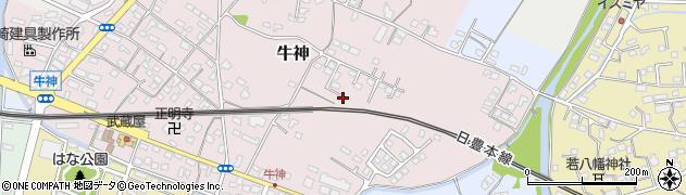 大分県中津市牛神191周辺の地図