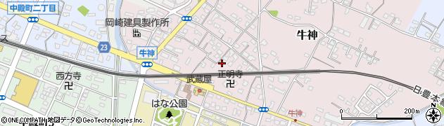 大分県中津市牛神305周辺の地図