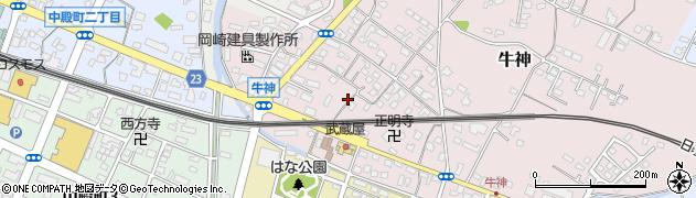 大分県中津市牛神293周辺の地図