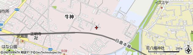 大分県中津市牛神195周辺の地図