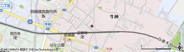 大分県中津市牛神252周辺の地図