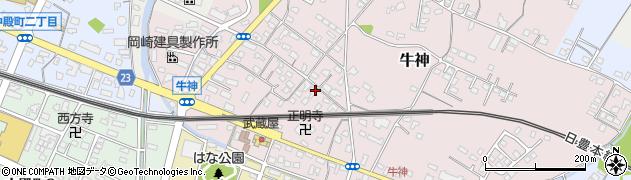 大分県中津市牛神310周辺の地図