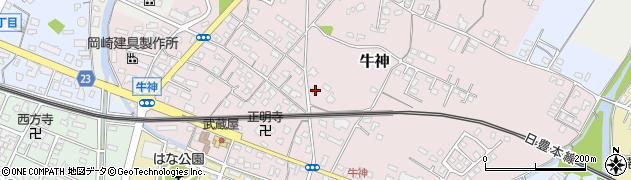 大分県中津市牛神248周辺の地図