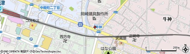 大分県中津市牛神407周辺の地図