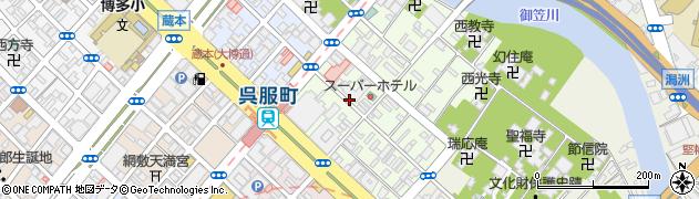 福岡県福岡市博多区上呉服町周辺の地図